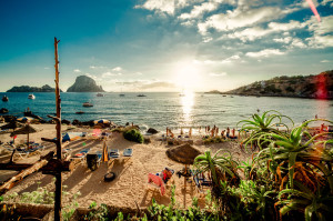 View of Cala d'Hort Beach, Ibiza