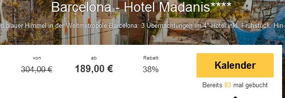 Screenshot Travelbird 21.02.2015 Barcelona 4 Tage Hotel Madanis