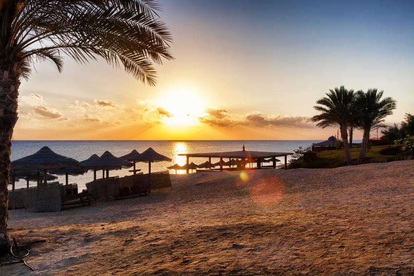 Strandurlaub Sonnenuntergang am Strand