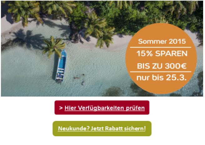 Screenshot Club Med Sommerurlaub jetzt Buchen und bis zu 300€ sparen 19.3.15