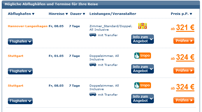 Screenshot TravelScout24 Angebot All-Inclusive Bodrum 3 Sterne Serene Beach Resort 23.3.15