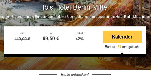 Screenshot Travelbird Städtereise Berlin ibis Hotel Berlin Mitte 18.3.15