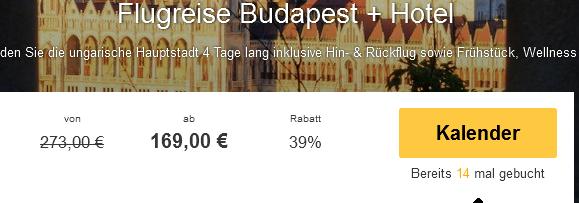 Screenshot Travelbird Städtereise nach Budapest 3 Sterne Six Inn Hotel Budapest 30.3.15