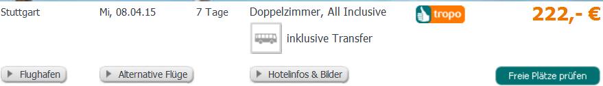 Screenshot Trop Angebot Türkei Urlaub Alanya Konakli 4 Sterne Hotel Titan Garden 20.3.15