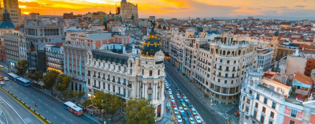 Madrid bei Sonnenuntergang