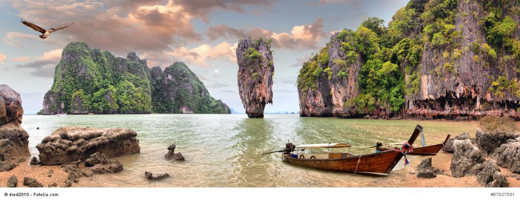 Frühbucher Urlaub in Thailand - Sehenswürdigkeiten James Bond Island, Phang Nga, Phuket