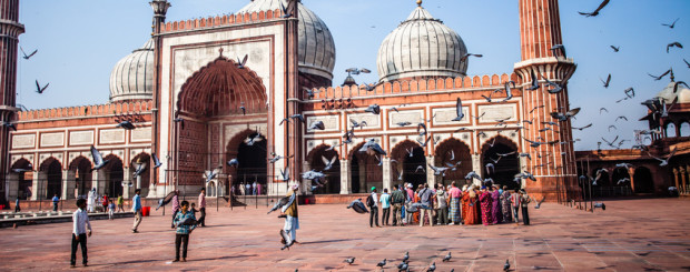Die Jama Masjid Moschee in Delhi, Indien
