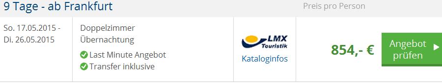 Screenshot Angebot HolidayCheck 9 Tage Last Minute Urlaub auf Koh Samui, inklusive Transfer, den Flügen ab Frankfurt und den Übernachtungen in einem 3 Sterne Hotel 30.4.15