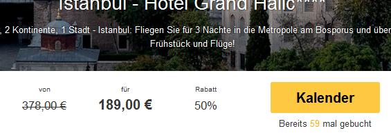 Screenshot Travelbird Angebot Frühbucher Istanbul 4 Sterne Grand Halic Hotel inklusive Flügen und Frühstück 20.4.15
