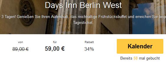 Screenshot Travelbird Städtereise nach Berlin 3 Tage in die Hauptstadt 3 Sterne Days Inn Hotel Berlin West 6.4.15