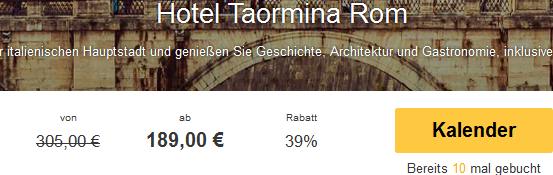 Screenshot Travelbird.de Angebot Städtereise, Rom Urlaub im ausgezeichneten Hotel Taormina inklusive Frühstück und Flügen im Doppelzimmer 14.4.15