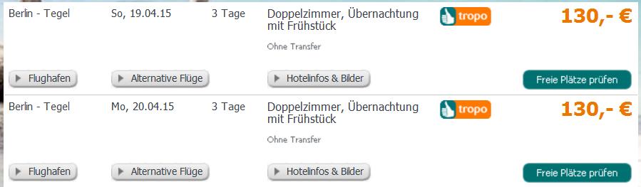 Screenshot Tropo Angebot Städtereise nach Prag im 4 Sterne Hotel Aida mit Flügen ab Berlin - Tegel 2.4.15