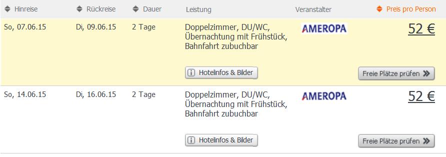 Screenshot Weg.de Angebot Kurztrip nach Berlin 2 Tage im 3 Sterne Novum Business City B Berlin Hotel inklusive Frühstück 20.4.15