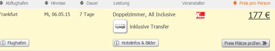 Screenshot weg.de Angebot All-Inclusive Tunesien Urlaub im 3 Sterne Samira Club in Hammamet inklusive Flügen und Transfer zum Hotel 15.4.15