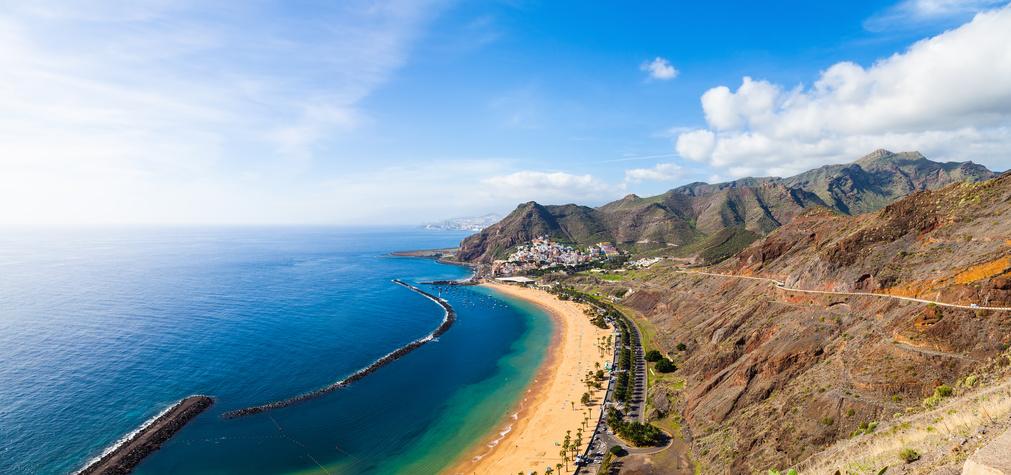 Der Las Teresitas Strand auf Teneriffa, Spanien