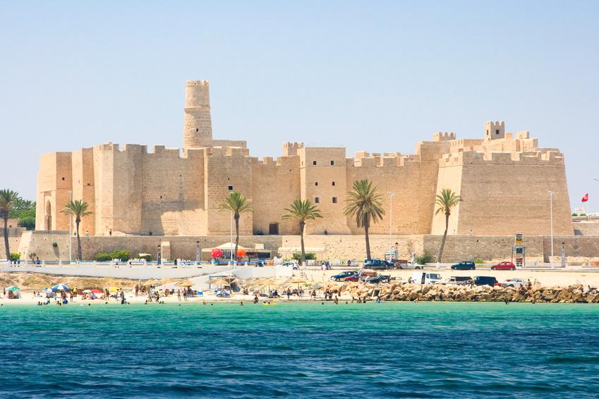 Bild des Ribat, aufgenommen während eines Urlaubs in Monastir, Tunesien