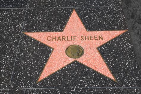 Stern von Charlie Sheen auf dem Walk of Fame in Hollywood