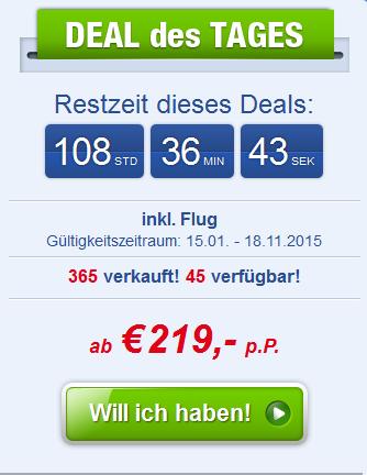 Screenshot Ab-in-den-Urlaub-Deals Angebot Acht Tage Last Minute Urlaub an der Türkischen Rivera, All-Inclusive 3.5.15
