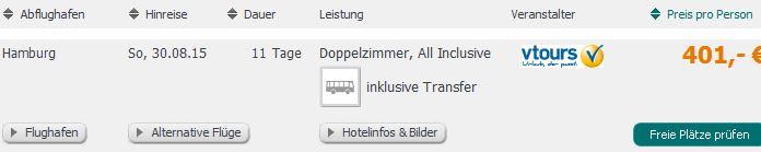 Screenshot Angebot Tropo.de 11 Tage All-Inclusive Urlaub auf Teneriffa, Spanien. 4 Sterne Gran Hotel, Flughfentransfer, Hin- und Rückflug um 401€ pro Person. 20.5.15