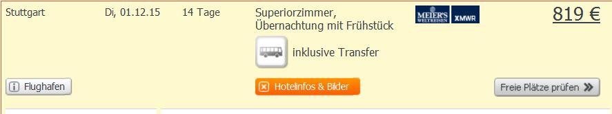 Screenshot Angebot Weg.de Phuket Zwei Wochen Urlaub im 3 Sterne Hotel, Transfer und Flügen um 819€ 19.5.15