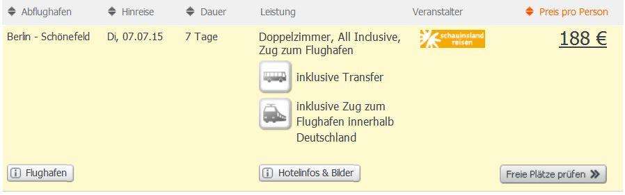 Screenshot Angebot Weg.de Türkei Reiseschnäppchen im Juli, Hotel Dynasty um 188€ pro Person für eine Woche All-Inclusive 22.5.15