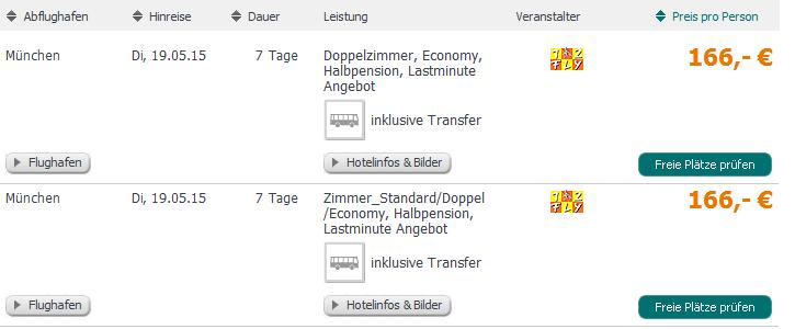 Screenshot Tropo.de Eine Woche Last Minute Urlaub in Side, im 3 Sterne Hotel Agora Side, inklusive Flughafentransfer, Halbpension und den Fügen 7.5.15