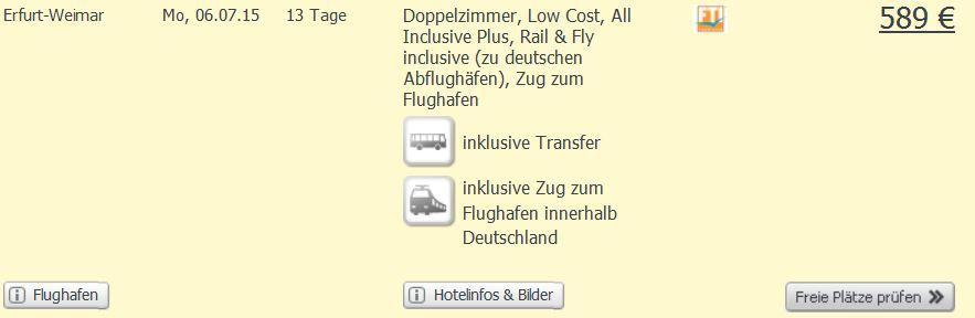 Screenshot Weg.de Angebot All-Inclusive Plus Urlaub in Side, 5 Sterne Hotel, Transfer, Flüge und Zug zum Flug um nur 589€ pro Person