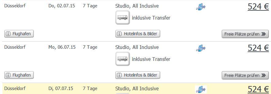 Screenshot Weg.de Angebot All-Inclusive Urlaub in Ajman, 4 Sterne Hotel, Transfer und Flüge um nur 524€ pro Person im Doppelzimmer 25.5.15