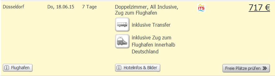 Screenshot Weg.de Angebot Dom. Rep. All-Inclusive Urlaub im 3 Sterne Strandresort 717€ pro Person. 24.5.15