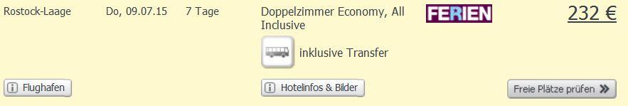 Screenshot Weg.de Angebot Weg.de Eine Woche All-Inclusive Urlaub in Avsallar um nur 232€, inklusive Flügen und Transfer 30.5.15