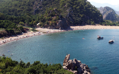 Der Olympos Strand in Lycia, aufgenommen bei einem Urlaub in Kemer