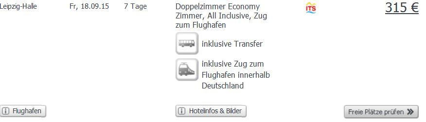 Screenshot Angebot Weg.de All-Inclusive Urlaub in Sonnenstrand, 4 Sterne Hotel, Transfer, Flüge und Zug zum Flug um nur 316€ 3.6.15