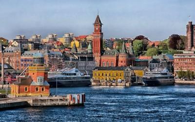 Bild einer Hfenstadt in Dänemark