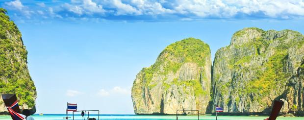 Phuket Thailand Urlaub Langboote