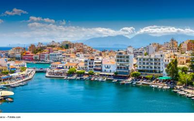 Bild von Agios Nikalos, einem der beknntesten Ziele für einen Urlaub auf Kreta