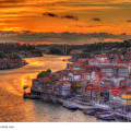 Sonnenuntergang Städtererise Porto - Portugal