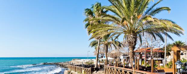 Restaurant an der Türkischen Riviera, bei einem Urlaub in Side